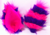 Cheshire Cat ears - pink and purple stripes