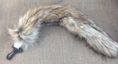 Cream and pale tan 50cm super luxury fur unstuffed tail