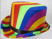 61CM Rainbow Top Hat