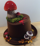 Brown top hat with toadstools 1