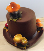 Brown top hat with toadstools 2