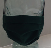 Dark green fabric face mask front view