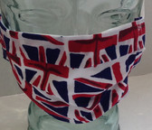 Union Jack fabric face mask