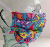 Turquoise hippy fabric face mask