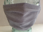 Pale grey print fabric face mask