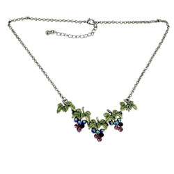 Sparkling Bunches of Grapes Necklace