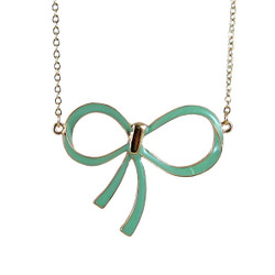 Ribbon Necklace Seafoam Green