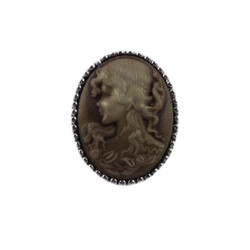 Victorian Cameo Ring Brown Size 8