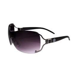 Square Detail Sheild Style Sunglasses Black