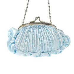 Pleated Evening Clutch Purse Light Blue