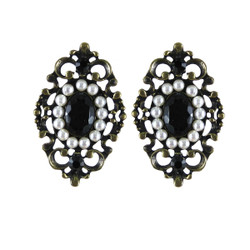 Gothic Lace Earrings Black