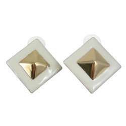Pyramid Stud Earrings Ivory