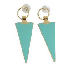 Geometric Drop Earrings Seafoam Green