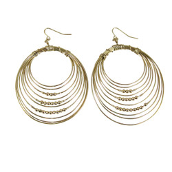 Gold Multi Hoop Drop Earrings