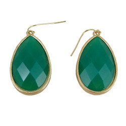 Dangle Earrings Double Sided Green and Yellow
