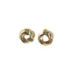Gold Tone Infinity knot Earrings
