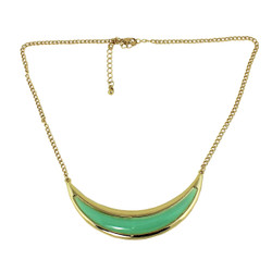 Crescent Moon Necklace Mint