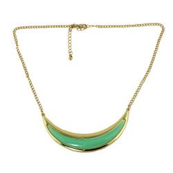 Crescent Moon Necklace Mint
