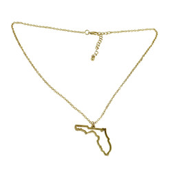 State of Florida Necklace Gold