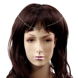 Classic Princess Jewel Headpiece Black