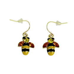 Honey Bee Hook Dangling Earrings
