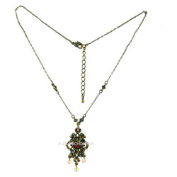 Victorian Necklace Multicolor Crystals