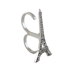 Eiffel Tower Double Ring Silver