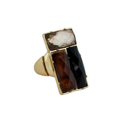 Downtown Couture Design Ring Black, Natural, and Tortoise