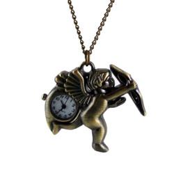 Cupid Long Clock Necklace
