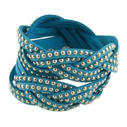 Stud Wrap Around Bracelet Baby Blue