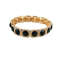 Majestic Jewels Crystal Bracelet Green
