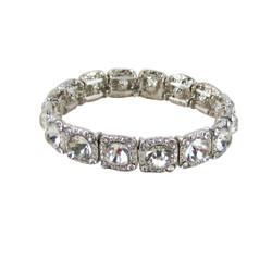 Majestic Jewels Crystal Bracelet Silver