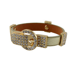 Dazzling Belt Buckle Bracelet Gold