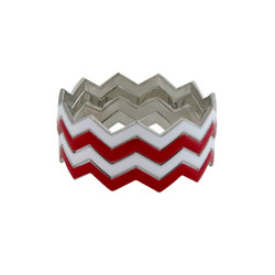 ZigZag Bracelet Red and White