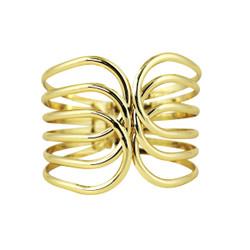 Swirling Bands Cuff Bracelet Gold