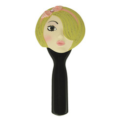 Hand Mirror Blonde Pink Headband