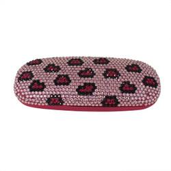 Sparkling Eyeglass Case Pink Leopard