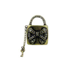 Bow Lock and Key Stretchy Ring Oversize