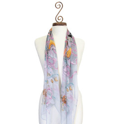Chinese Design Scarf Lavender
