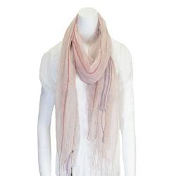 Tassel Linen Scarf Pale Pink