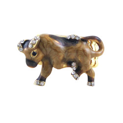 Bull Stretch Ring Bejeweled