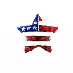 American Flag Star Shaped Stretch Ring Patriotic