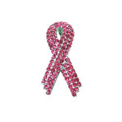 Pink Ribbon Pin Bejeweled