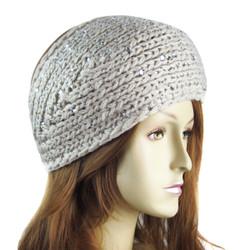 Rhinestone Detailed Headband Natural