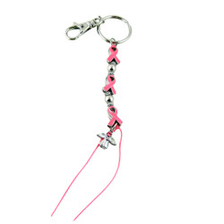 Pink Ribbon Key Chain