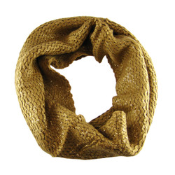 Give A Little Shimmer Infinity Scarf Tan