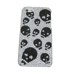 iPhone 5 Case Cover Skull Rhinestones Black