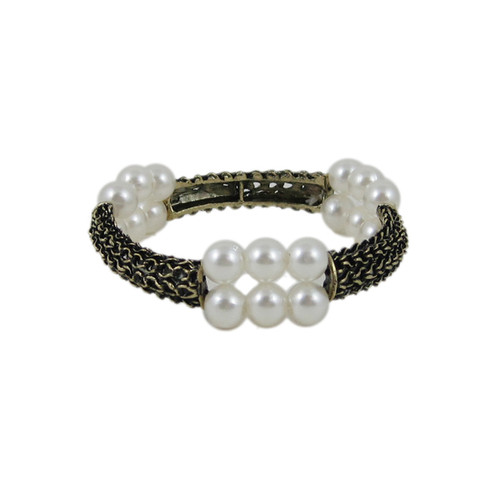 Victorian Cable Bracelet Pearls