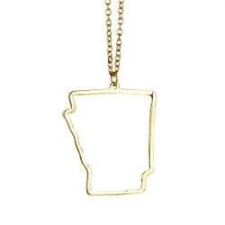 State of Arizona Necklace Gold