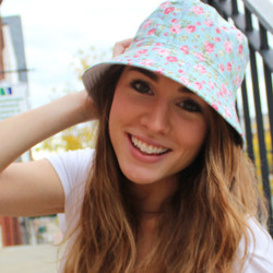Floral Bucket Hat Blue and Pink